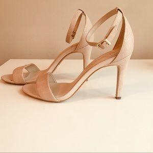 Aldo cream/tan textured detail heel, sz7